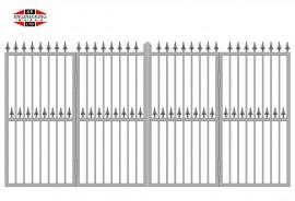 Bi-Fold Gates Tall