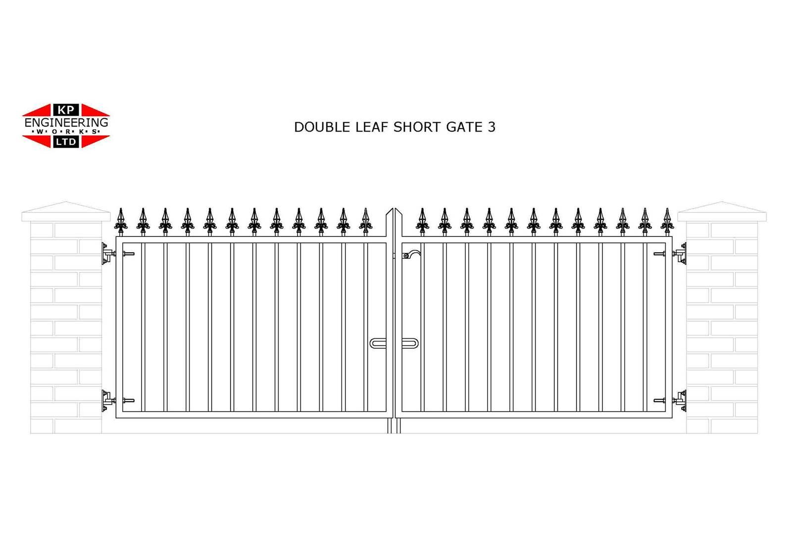 double leaf short gates
