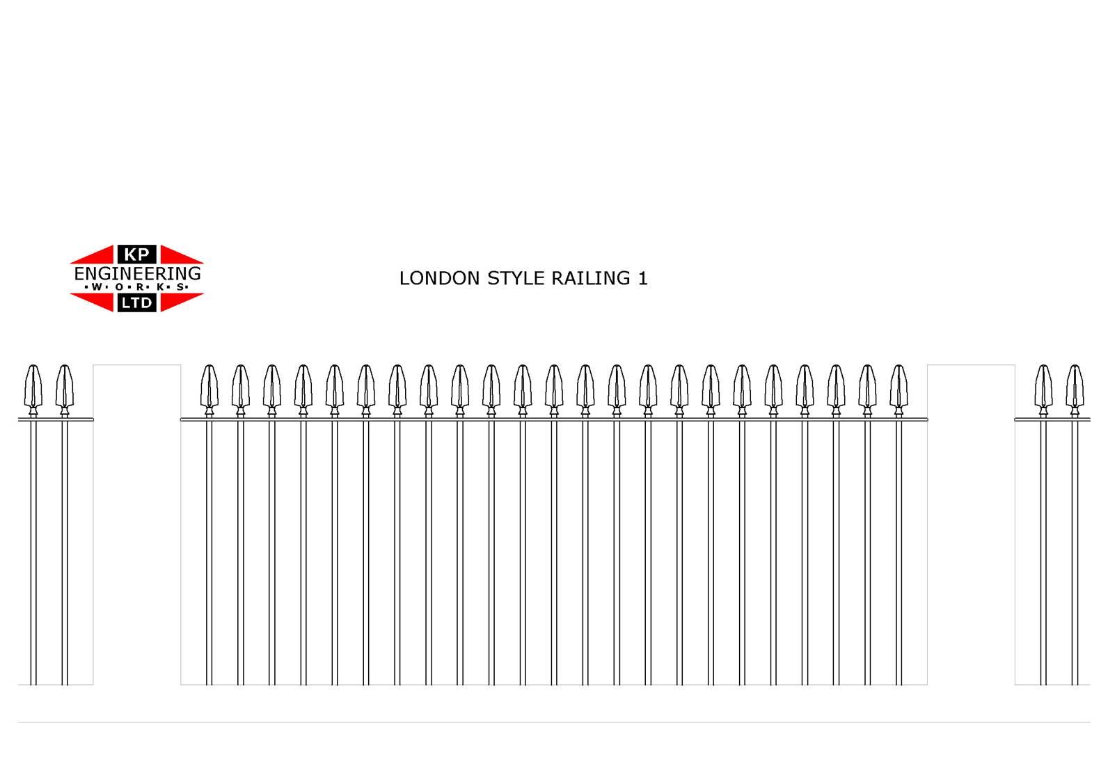 London Style Railings From Kp Engineering