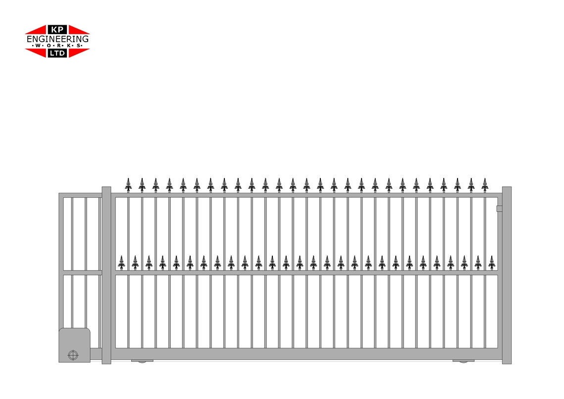 Short Sliding Gate System For Driveways Or Commercial Premises