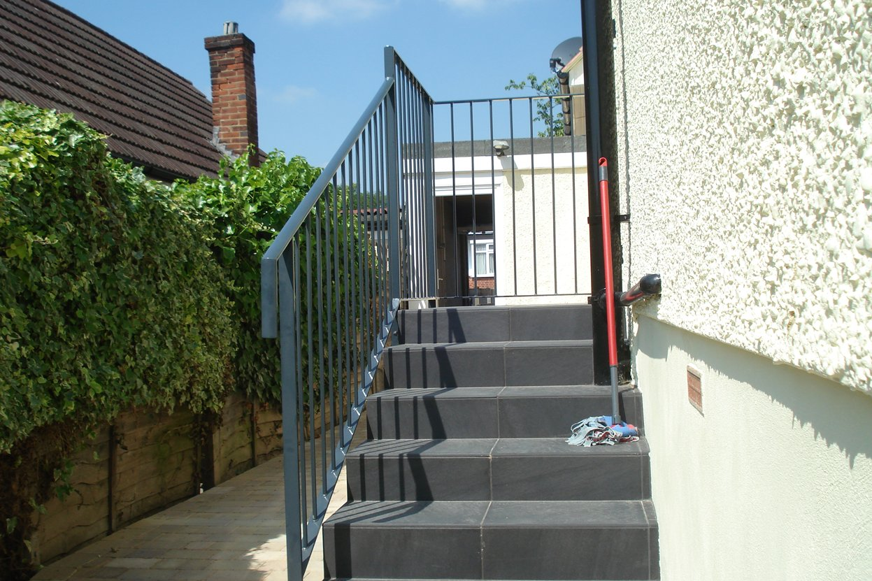 Terrace stair balustrades kp engineering for Terrace stairs
