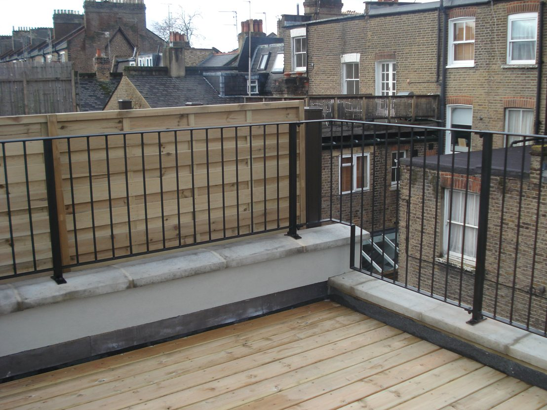Roof Terrace Railings Quality Assured By Kp Engineering