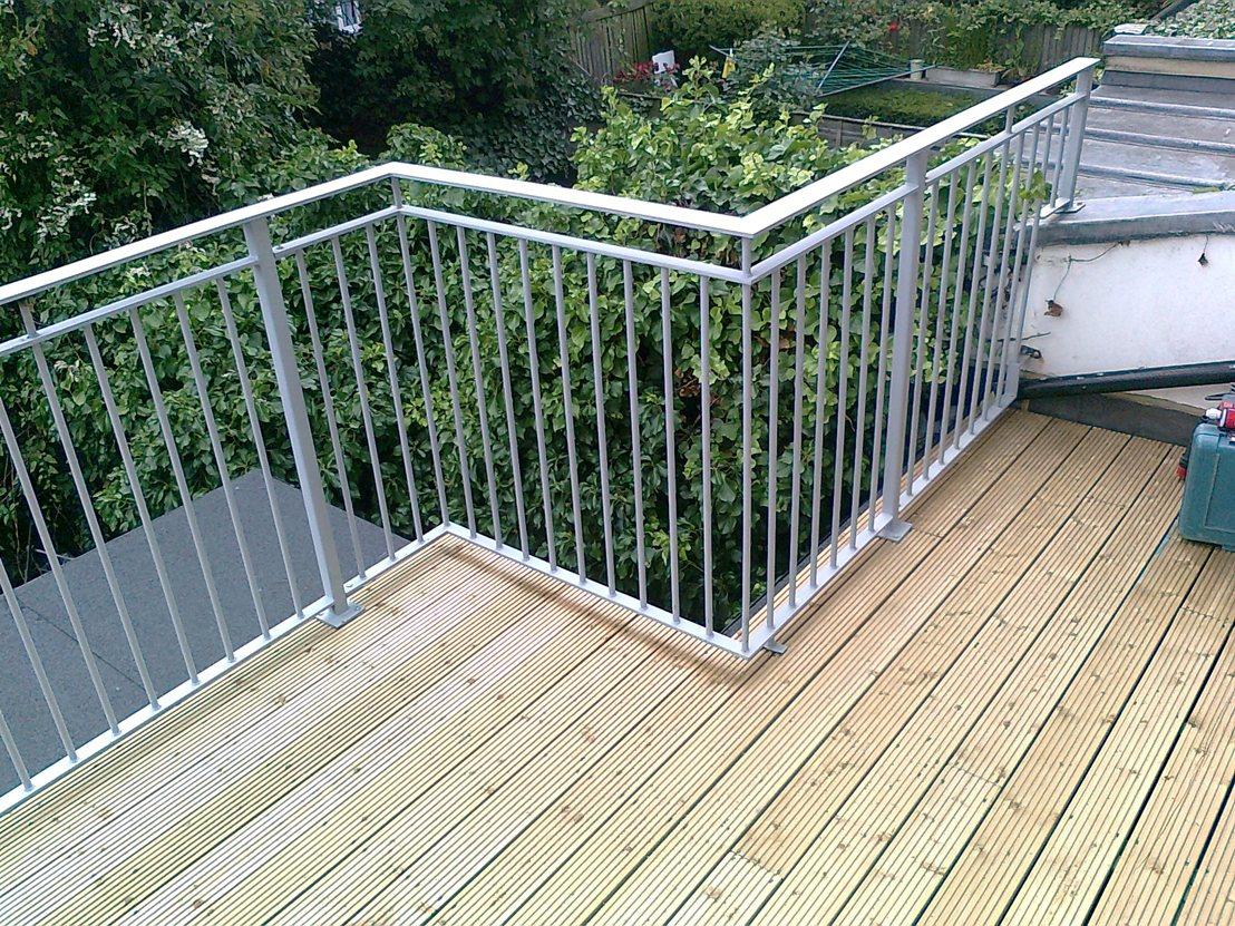 Roof Terrace Railings Quality Assured By Kp Engineering