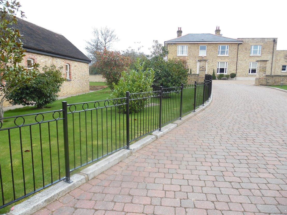 London iron railings gates fencing kp engineering short fencing baanklon Choice Image