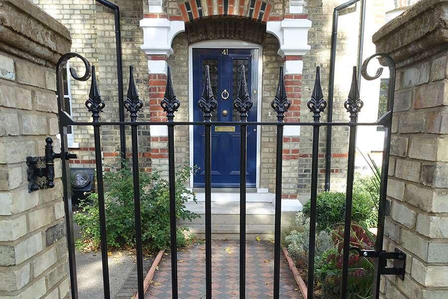 Wrought iron garden gate in Feltham