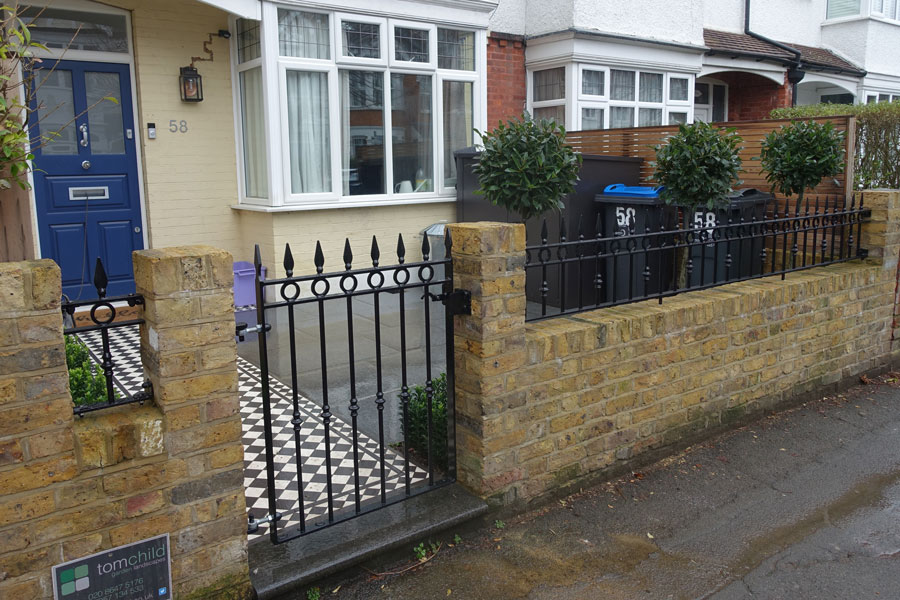 metal railings and garden gate for Southall