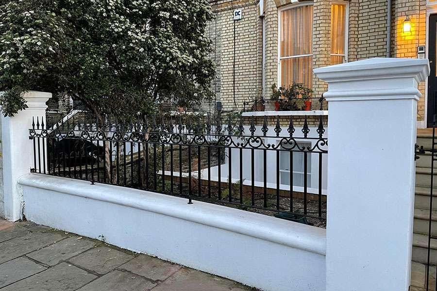 wall top railing