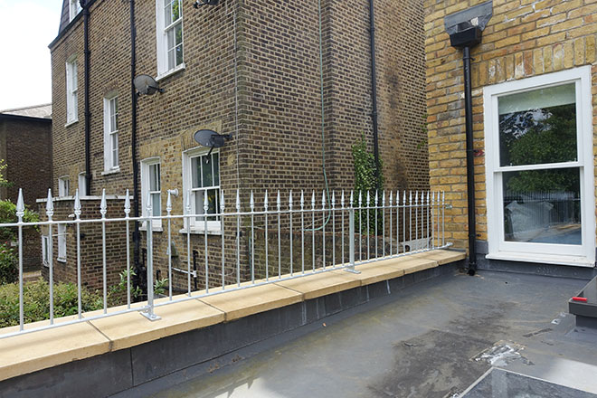 Wrought iron gates & railings for Finchley