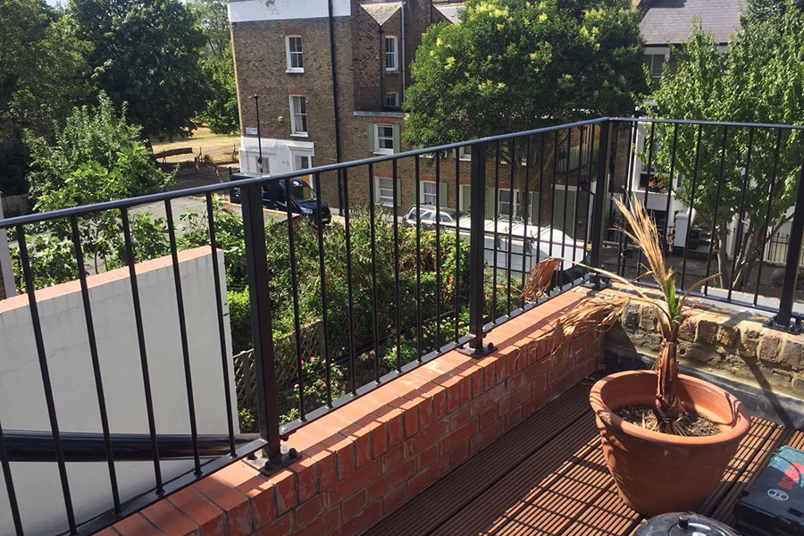 Wrought iron railings and gates in Tottenham