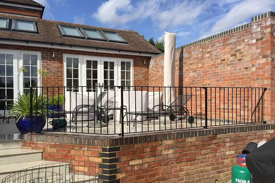 metal gates and iron terrace railings