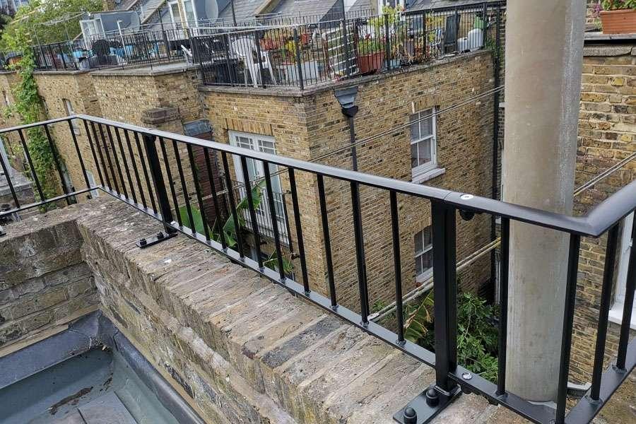 Metal gates and iron railings in Tottenham