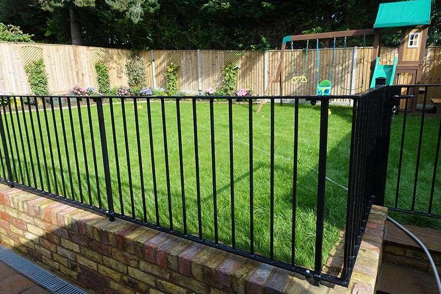 Iron terrace railings