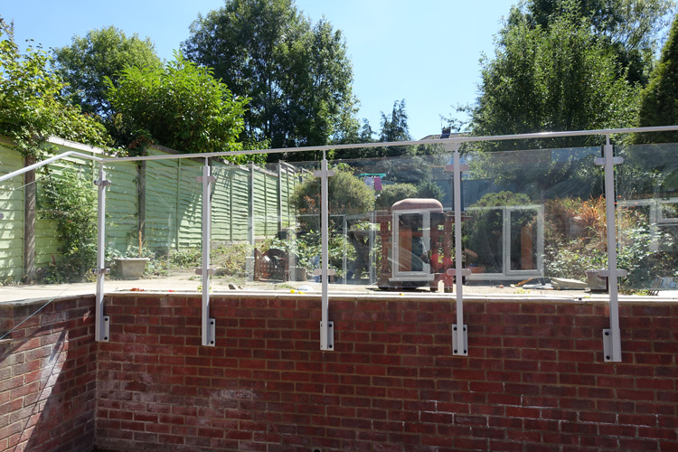 Terrace Railing with glass