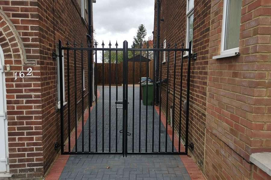 Wrought iron estate gate