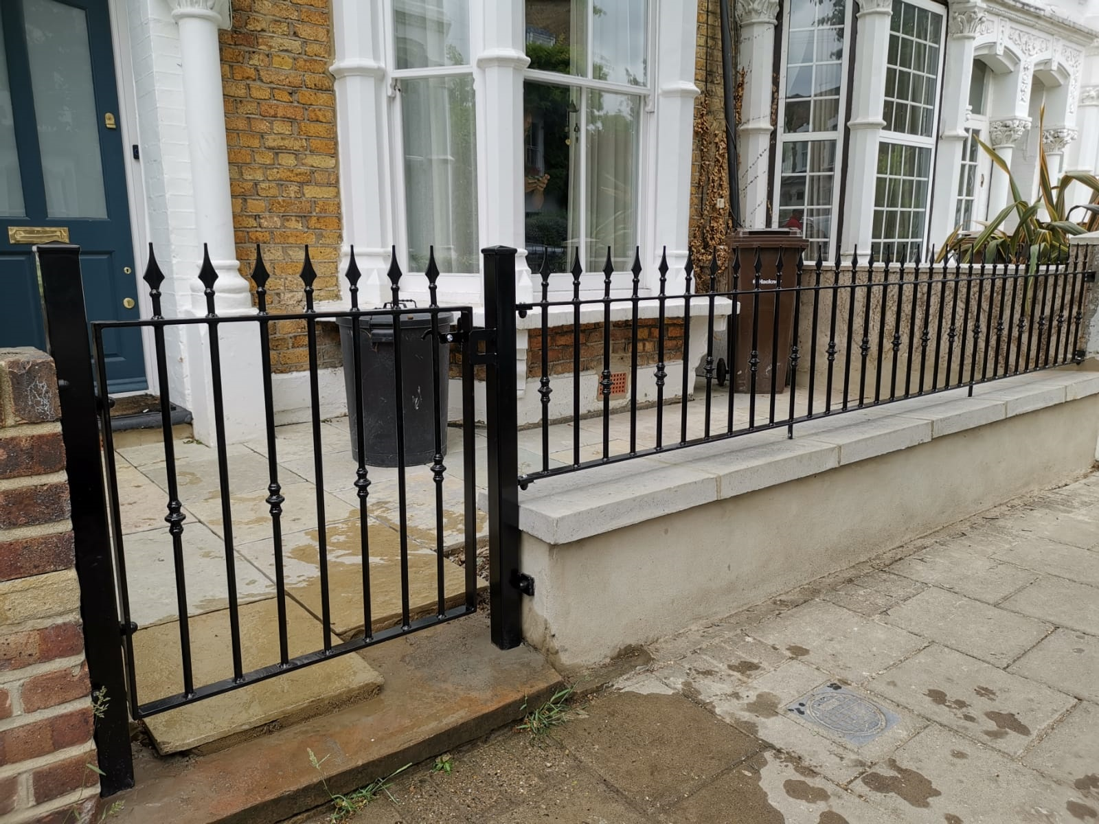 wrought iron railings and gates