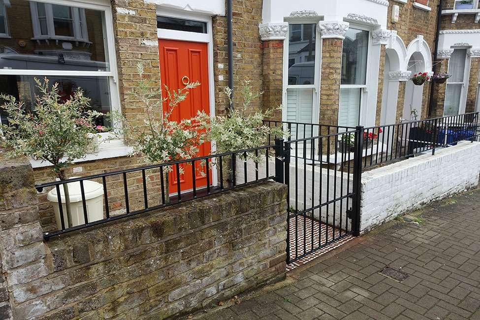 metal gates and iron railings